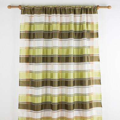 Závěs se širokým pruhem zelená, 140 x 180 cm