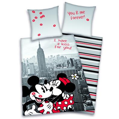 Dětské povlečení Mickey & Minnie Kiss, 140 x 200 cm, 70 x 90 cm