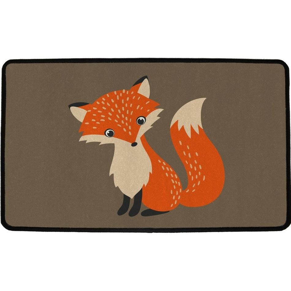 Butter Kings Vnitřní multifunkční rohožka Forest fox, 75 x 45 cm