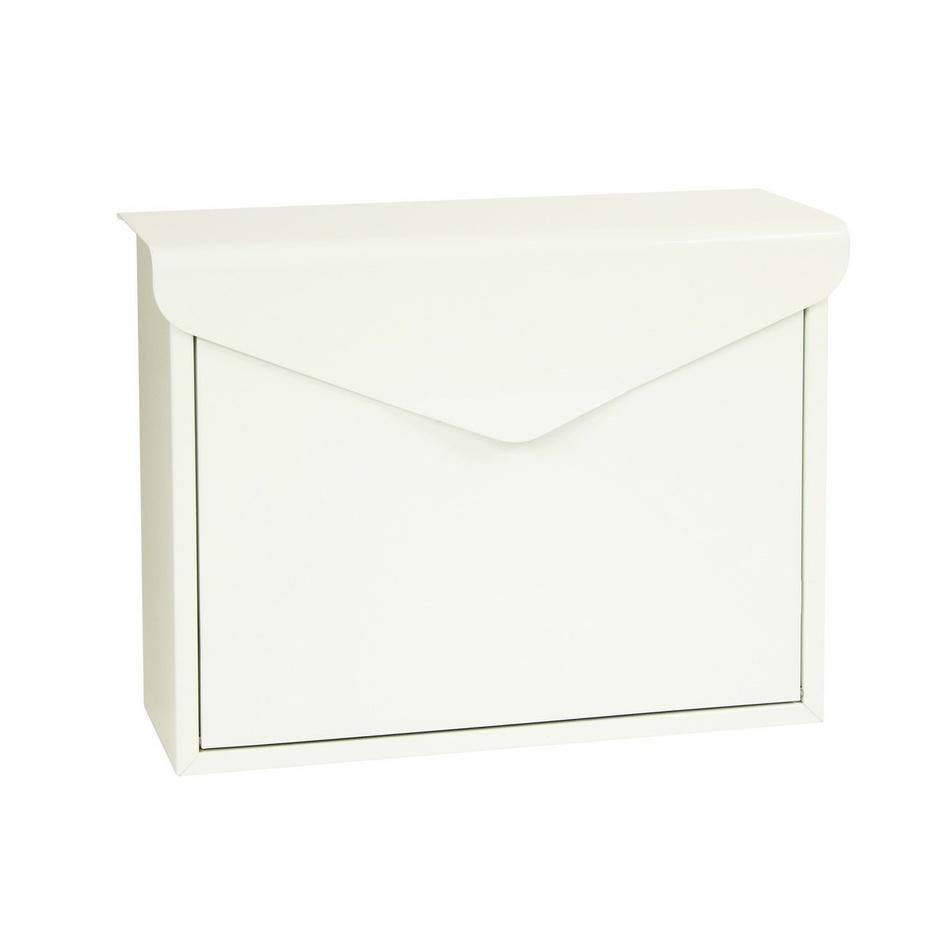 Richter Stalowa skrzynka pocztowa Monza, biały