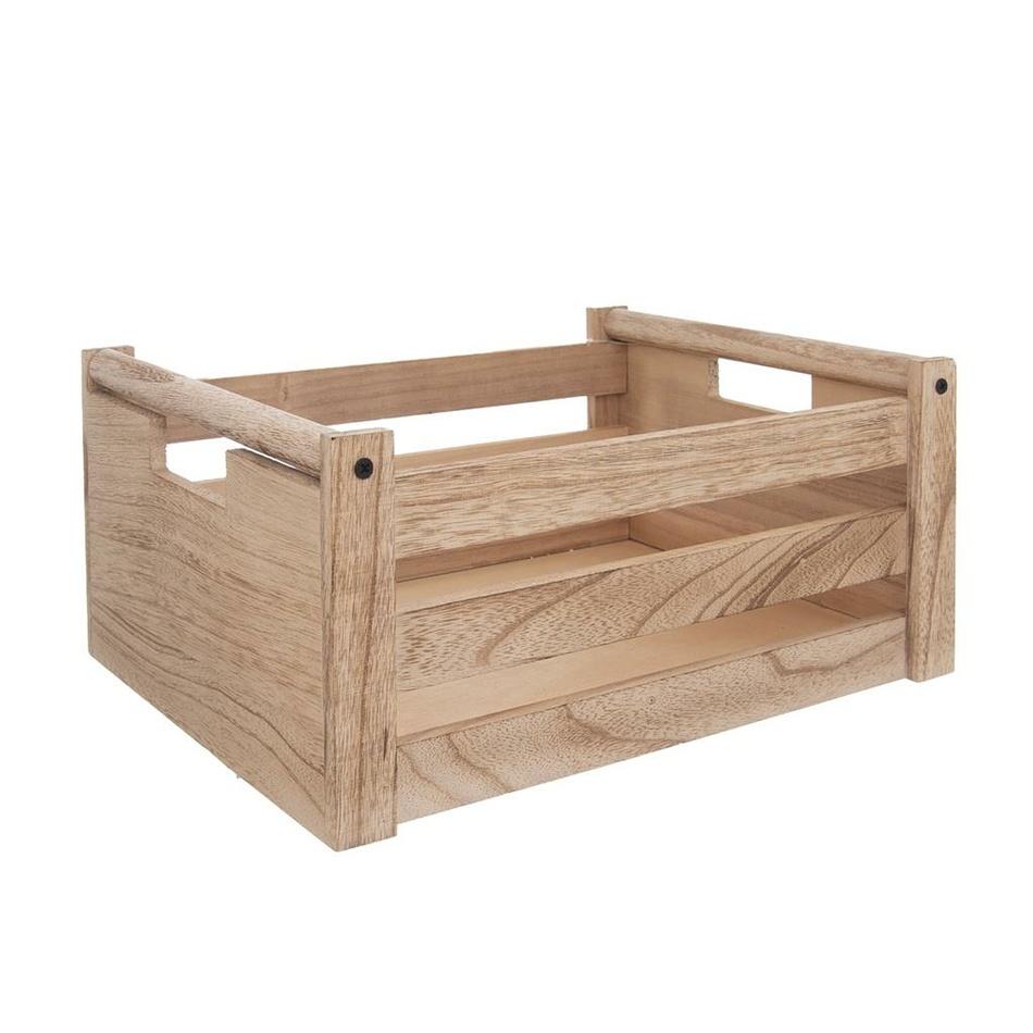 Bedýnka dřevo dekorace A NATURAL 31x21x14 cm
