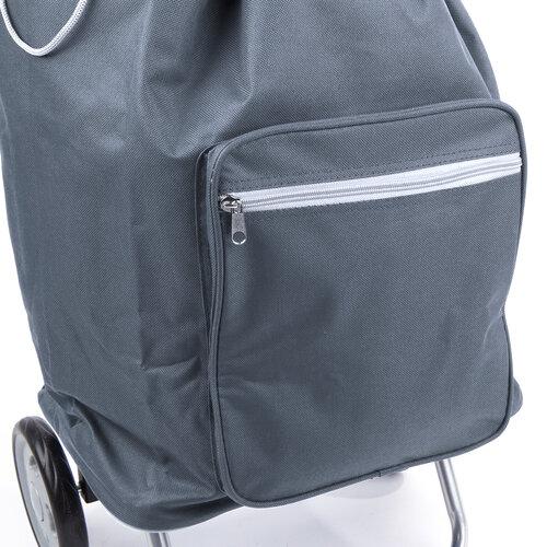 Nákupná taška na kolieskach Cargo, sivá