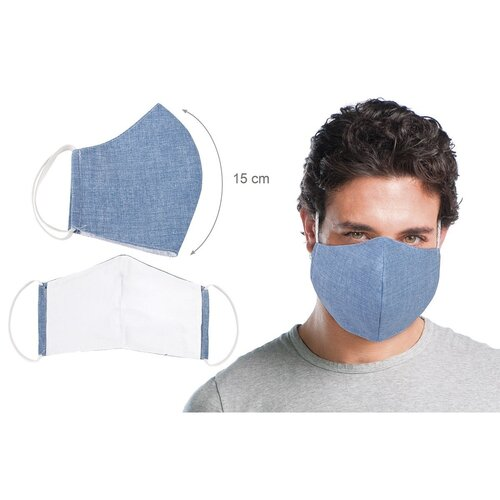 Ústne bavlnené rúško UNI modrá - medium
