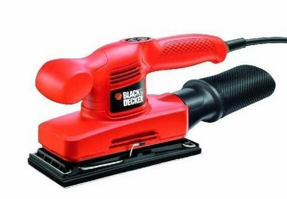 Vibrační bruska, Black & Decker, KA310 240W, červená, 9 x 23 cm