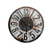 Nástenné hodiny sklenené čierne