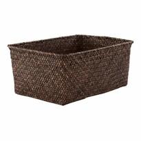 Compactor Ręcznie wyplatany koszyk do przechowywania KITO 30 x 20 x 13 cm, brązowy