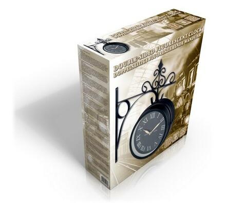 Oboustranné hodiny, vícebarevná, pr. 25 cm