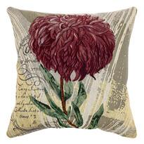 Obliečka na vankúšik Chryzantéma fialová, 45 x 45 cm