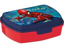 Svačinový box Spiderman 17,5 x 14,5 x 6,5 cm, modrá