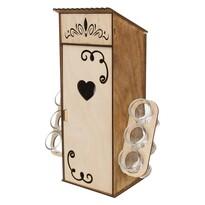 Orion Kerti WC palacktartó doboz, 0,5 l palackra, 6 db pohárral