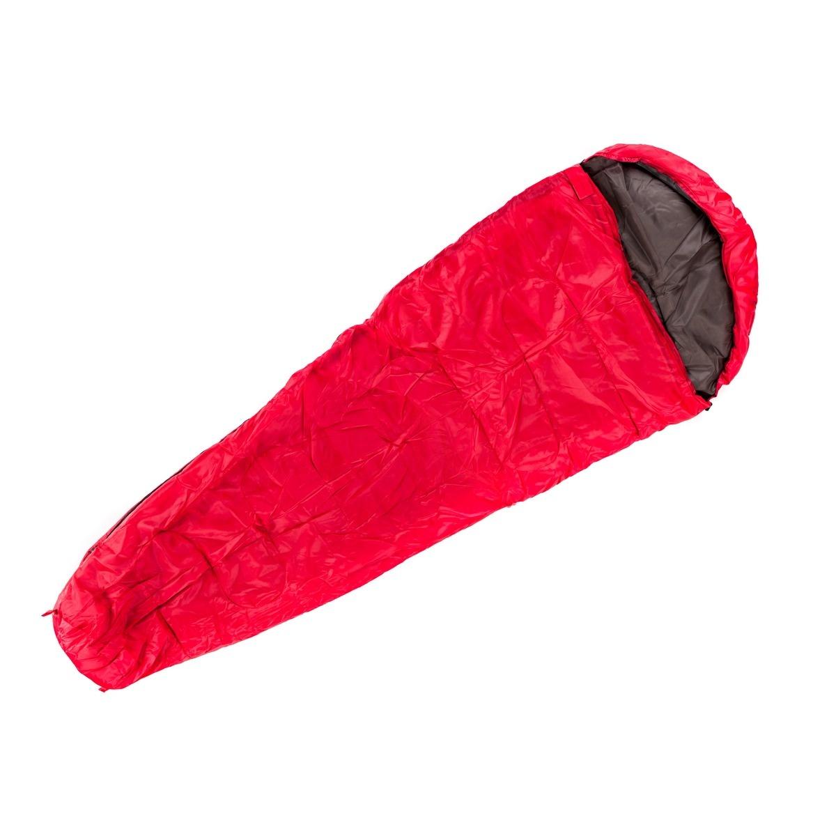 Nawalla Sac de dormit tip mumie roșu, 5 °C imagine 2021 e4home.ro