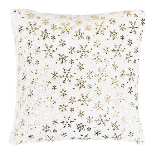 Hópehely karácsonyi párna, fehér, 43 x 43 cm