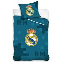 Real Madrid Dados Blue pamut ágynemű, 140 x 200 cm, 70 x 90 cm