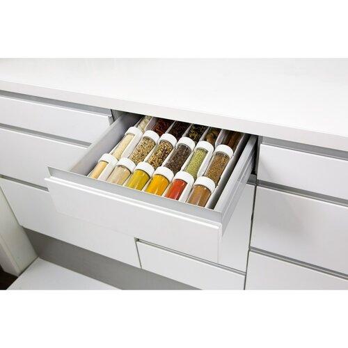 Tescoma SEASON pojemniczki na przyprawyszuflady 6 szt., białe