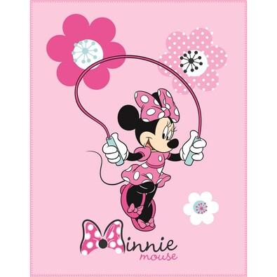 Dětská deka Minnie Pink Flowers, 110 x 140 cm