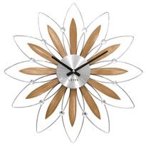 Nástenné hodiny Lavvu Crystal Flower LCT1112, pr. 49 cm