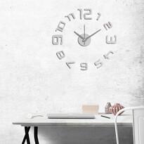 StarDeco Nástěnné hodiny číslice stříbrná, pr. 60 cm
