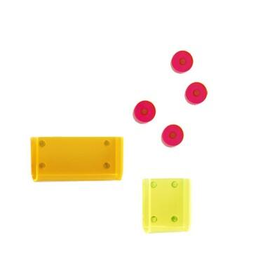 Magnetické M-Box úložné kapsy s magnety, set 6 ks