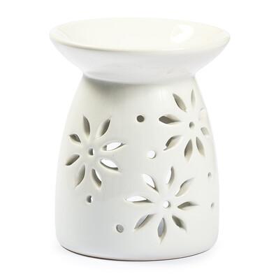 Lampă aromaterapie Flori, albă