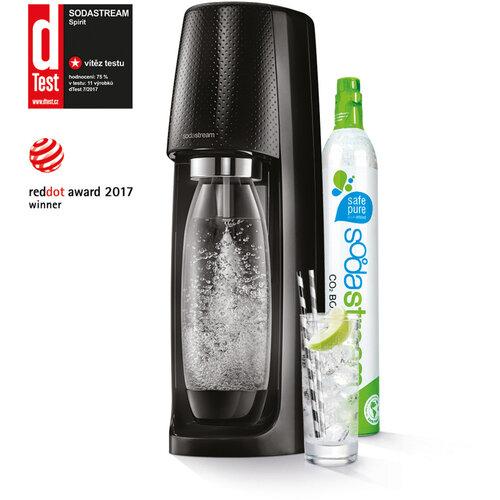 SodaStream Výrobník perlivej vody soda Spirit, čierna