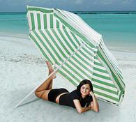 Plážový slunečník, zelená