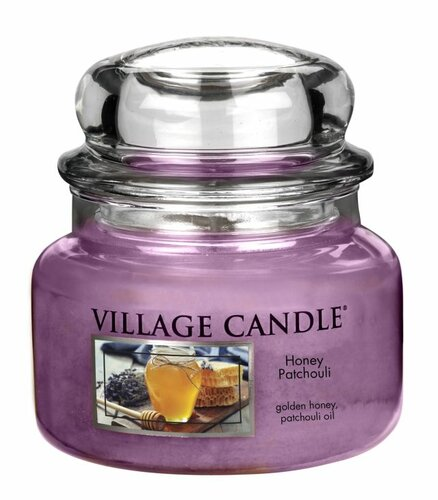 Village Candle Vonná svíčka ve skle, Med a pačuli - Honey Patchouli, 11oz, 269 g