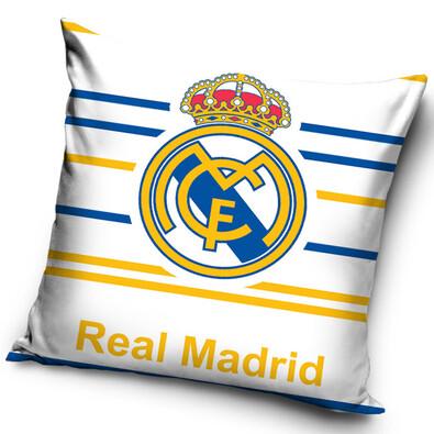 Polštářek FC Real Madrid Stripes, 40 x 40 cm
