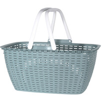 Nákupný košík Ratan 43 x 21,5 cm, zelená