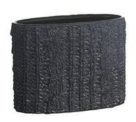 Ceramiczna doniczka owalna szara