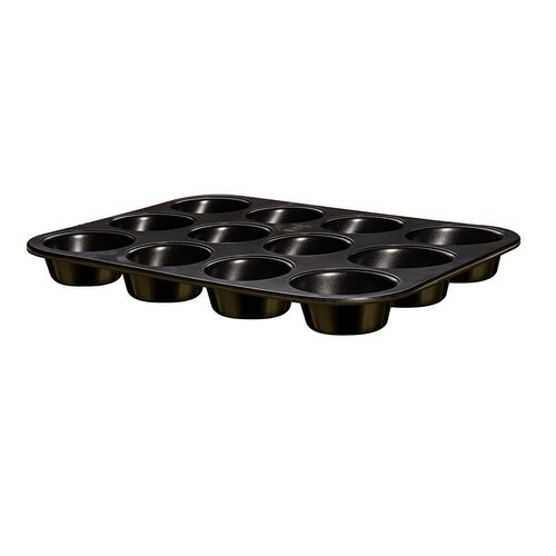 Berlinger Haus Forma na muffiny 12 ks Shiny Black Collection
