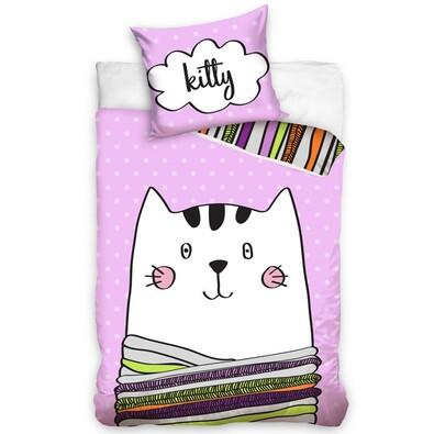 Detské bavlnené obliečky Kitty, 140 x 200 cm, 70 x 80 cm