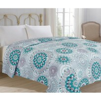 Narzuta na łóżko Debie turkusowy, 220 x 240 cm