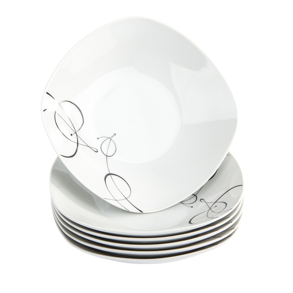 Fotografie Domestic 6dílná sada hlubokých talířů Chanson, 21,5 cm