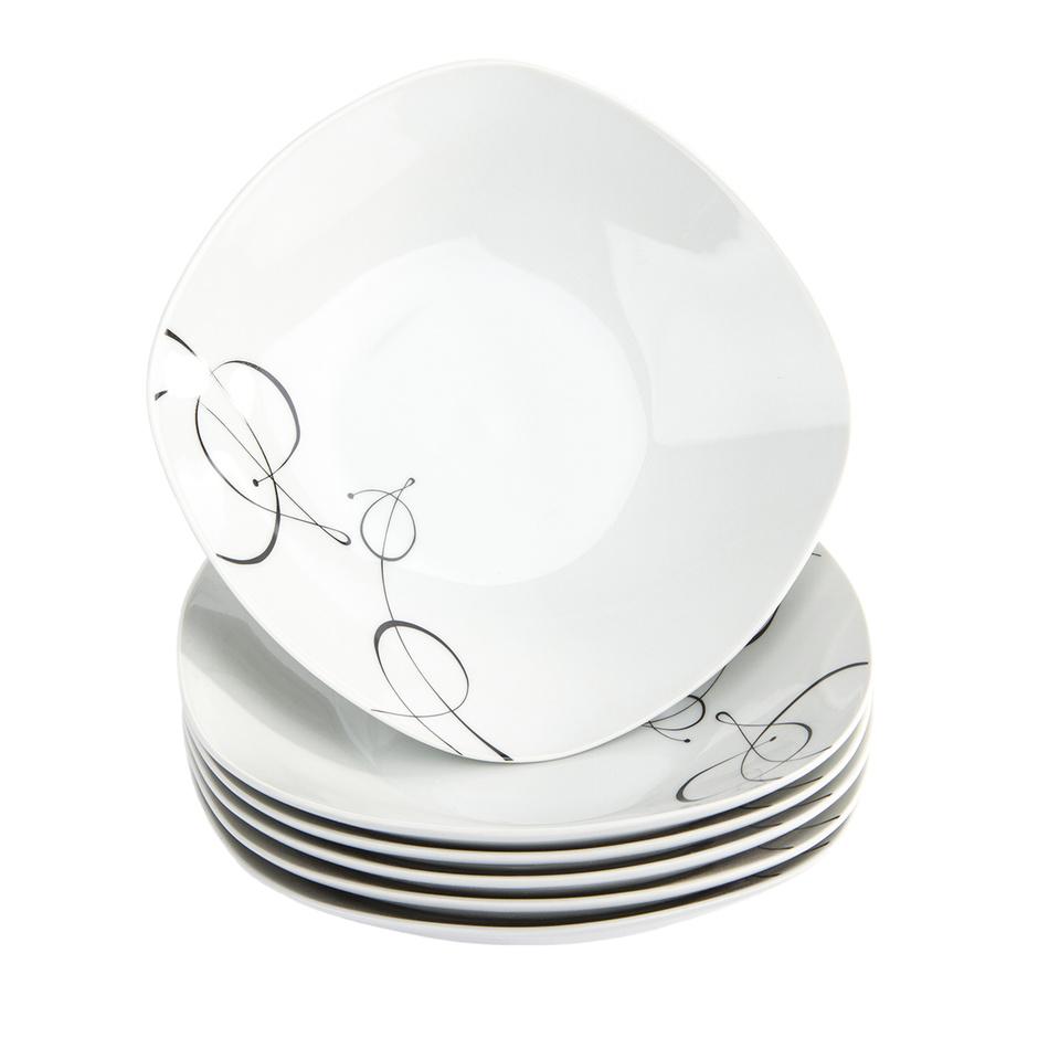 Domestic 6dílná sada hlubokých talířů Chanson, 21,5 cm