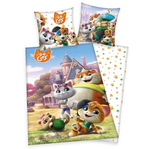 Dziecięca pościel bawełniana 44 Cats, 140 x 200 cm, 70 x 90 cm