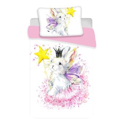 Jerry Fabrics Dětské bavlněné povlečení do postýlky Bunny baby, 100 x 135 cm, 40 x 60 cm