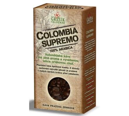 Grešík Colombia Supremo káva 100g, černá
