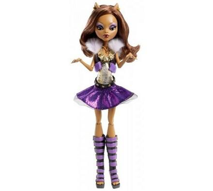 Monster High Oživlá příšerka Clawdeen Wolf Mattel , fialová