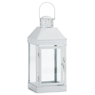 Lucerna bílá, 13 x 32 cm