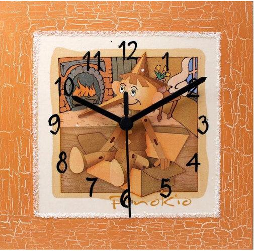 Nástenné hodiny s panáčikom Pinokio