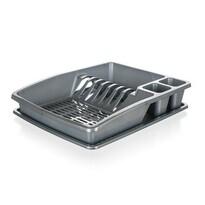 Banquet Odkapávač na nádobí myKitchen, 38 x 31 x 7,5 cm, stříbrná