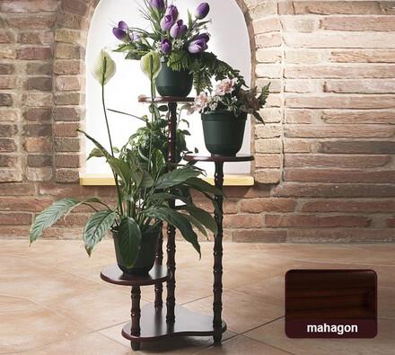 Květinový stolek mahagon