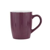 Florina Sada keramických hrnků Dabar 350 ml, 6 ks, vínová