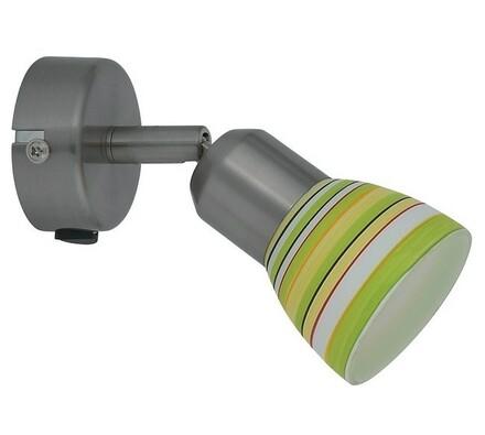 Nástěnné svítidlo Rabalux Kiwi 6235, bílá + zelená, 6,5 x 9 x 13,5 cm