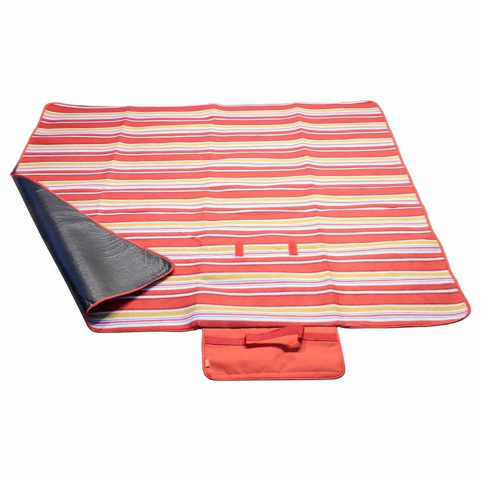 Pătură picnic Cattara Fleece, roşu, 150 x 135 cm imagine 2021 e4home.ro