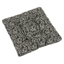 Pernă de scaun Ivo dantelă negru pe gri, 40 x 40 cm