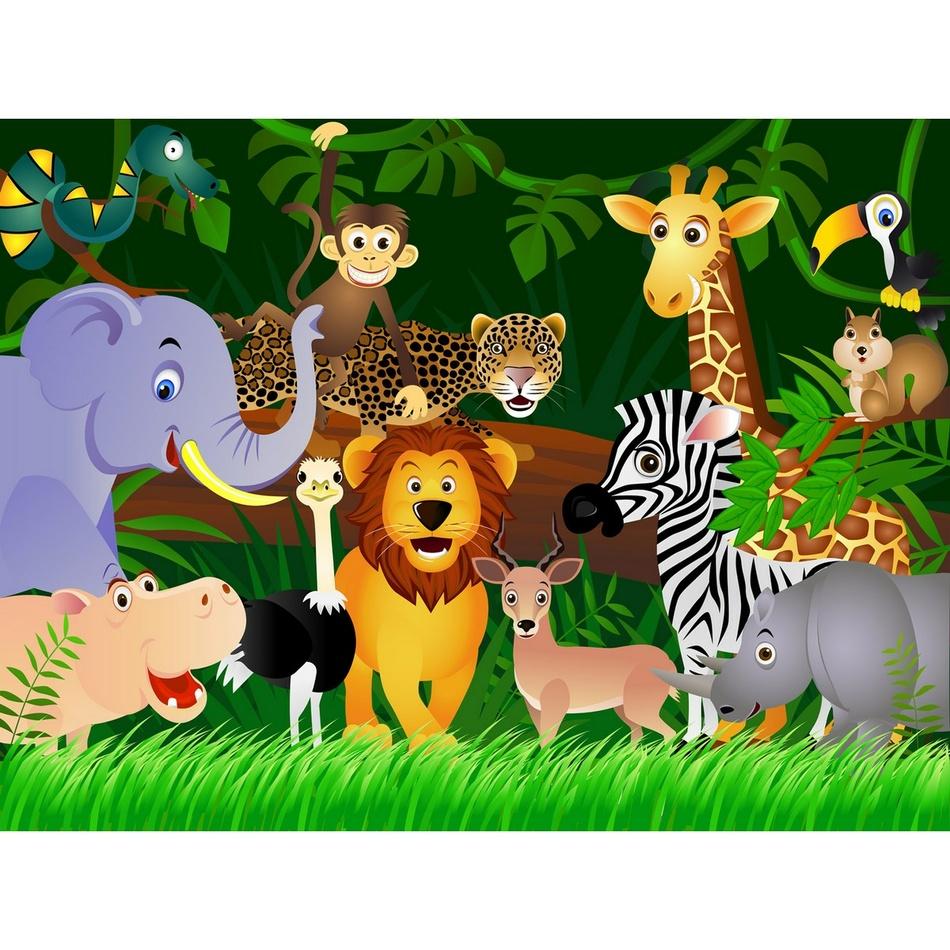 AG Art Dětská fototapeta XXL Džungle 360 x 270 cm, 4 díly