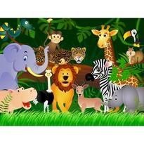Detská fototapeta XXL Džungľa 360 x 270 cm, 4 diely