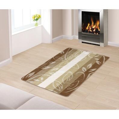 Kobercový běhoun Listy béžová, 80 x 120 cm