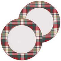 Altom Porcelánový talíř Victoria Red Cube 19 cm, 2 ks